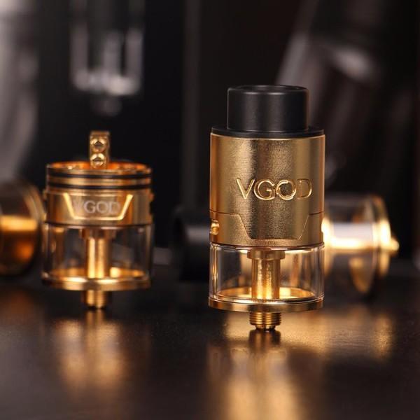 original-vgod-trick-tank-pro-rdta-gold-pressure-systems-4ml-capacity-tank-vs-vgod-pro-mech-mod