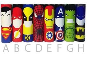Superhelter med bokstaver